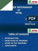MTNL Summer Report