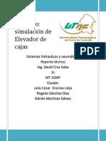 Reporte Del Proyecto(Elevador de Cajas)[1]