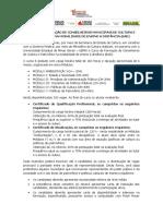 Curso de Formação de Conselheiros Municipais de Cultura e Patrimônio Na Modalidade de Ensino a Distância (Ead)