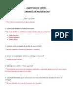 Cuestionario de Historia ....La Organizacion Poltica en Chile 2018