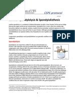 0 Lumbar Spondylolysis & Spondylolisthesis