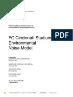 Preliminary results of Cincinnati Music Hall—FC Cincinnati noise pollution study