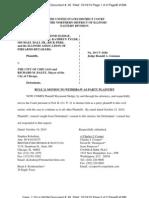 Benson v. Chicago - Motion to Withdraw - Plaintiff Sledge