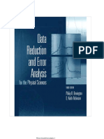DATA REDUCTION AND ERROR ANALYSIS