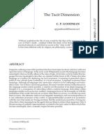 1 Goodman - The Tacit Dimension 133 - 157