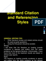 Standard Citation and Referencing Styles
