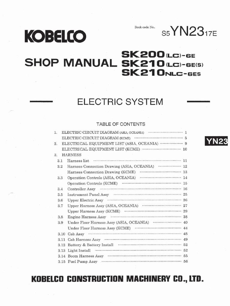 Free Reading Kobelco Sk210 Wiring Diagram | ePANEL Digital Books on kobelco sk210lc, kobelco 200 specs, kobelco sk480, kobelco sk350,