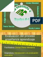 Evaluación del proceso enseñanza aprendizaje