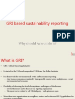 GRI Based Sustainability Reporting