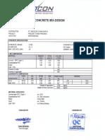 Mix Design & Spesifikasi Tiang Pancang 20x20x6m
