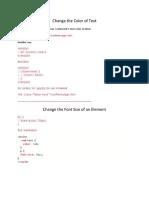 Basic CSS
