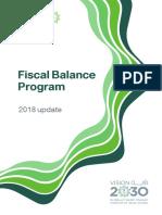 Fiscal Balance Program 2018 Update