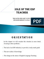THE ROLE OF THE ESP