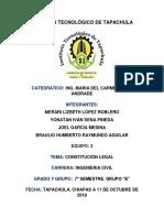 Unidad 3; Constitución Legal de Una Empresa Constructora
