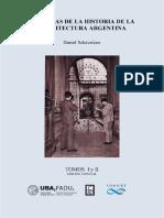"""Historias de la historia de la Arquitectura Argentina"""", vols. 1 y 2"""