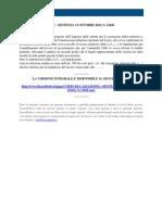 Fisco e Diritto - Corte Di Cassazione n 21049 2010