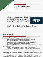 2a Aula-Parte II de Princípios de Processos Químicos 14 Ago 2012
