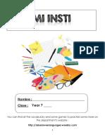 viva 1 modulo 3 homework booklet y7