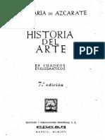 AZCARATE 1966 Historia Del Arte Cuadros Esquematicos
