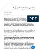 La Historia de La Mujer Dominicana Que Revela El Modus Operandi de Las Expulsiones Forzosas en Chile
