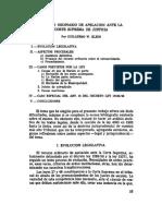 Recurso Ordinario de Apelacion Ante La Corte Suprema de Justicia