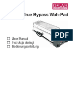 glab true bypass wha pad manual