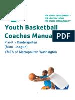 Youth Basketball Pre-K - Kindergarten Coaches Manual Mini League - Final(1)