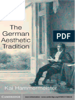 The German Aesthetic Tradition1