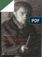 DERRIDA, J. Mémoires d'Aveugle