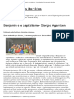 AGAMBEM, Giorgio. Benjamim e o Capitalismo.