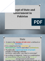 Lect 2 Concept of State and Government in Pakistan