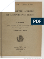 Pham Van Bach Marxisme Agraire Experience Russe 1936
