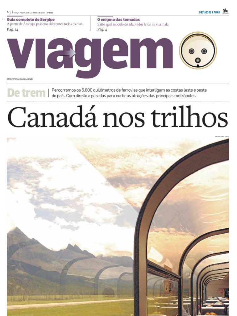 107d99b6df83b Suplemento Viagem - Estado de S.Paulo - Canadá nos trilhos 20101005
