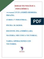 Operaciones Con Vectores Herrera