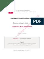 Corrige-Epreuve Principale Dissertation en finance publique