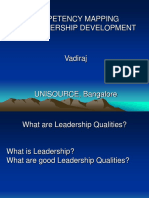 Competency for Leadership Dev