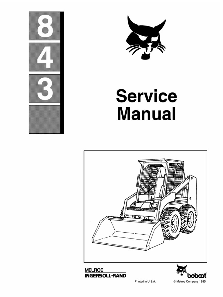 Bobcat 843 Service Repair Manual.pdf | Elevator | Vehicles