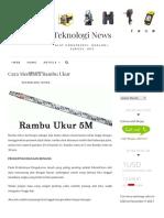 Cara Membaca Rambu Ukur