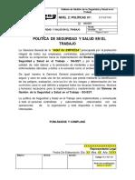 PLT-SST-001 Política de Seguridad y Salud en el Trabajo.pdf