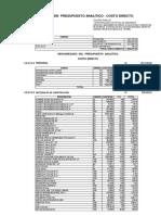 Presupuesto Analitico Alcantarillado Andarapa