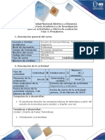 Guía de actividades y rubrica de evaluacion - Fase 1 - Presaberes
