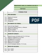 Base de Datos Costo y Presupuesto Rab