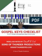 Gospel Keys Checklist-Master
