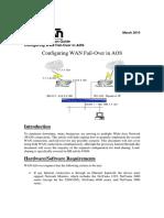 Configuring Multiple WAN Connection Failover in AOS