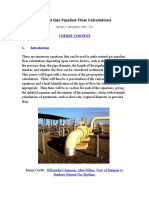 Natural Gas Pipeline Flow Calculations Course Content 2-23-16