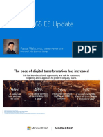 Microsoft 365 E5 Update Webinar January 15 2019
