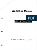 WM Porsche 928 Factory Manual - Vol 1a