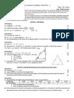 Maths ICSE 9TH - Final Test 2
