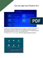 Installer Un Pilote Non Signe Sous Windows 8 Et 8 1