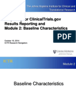 ClinicalTrials.gov Results Reporting Module 2 Baseline Characteristics 19OCT14